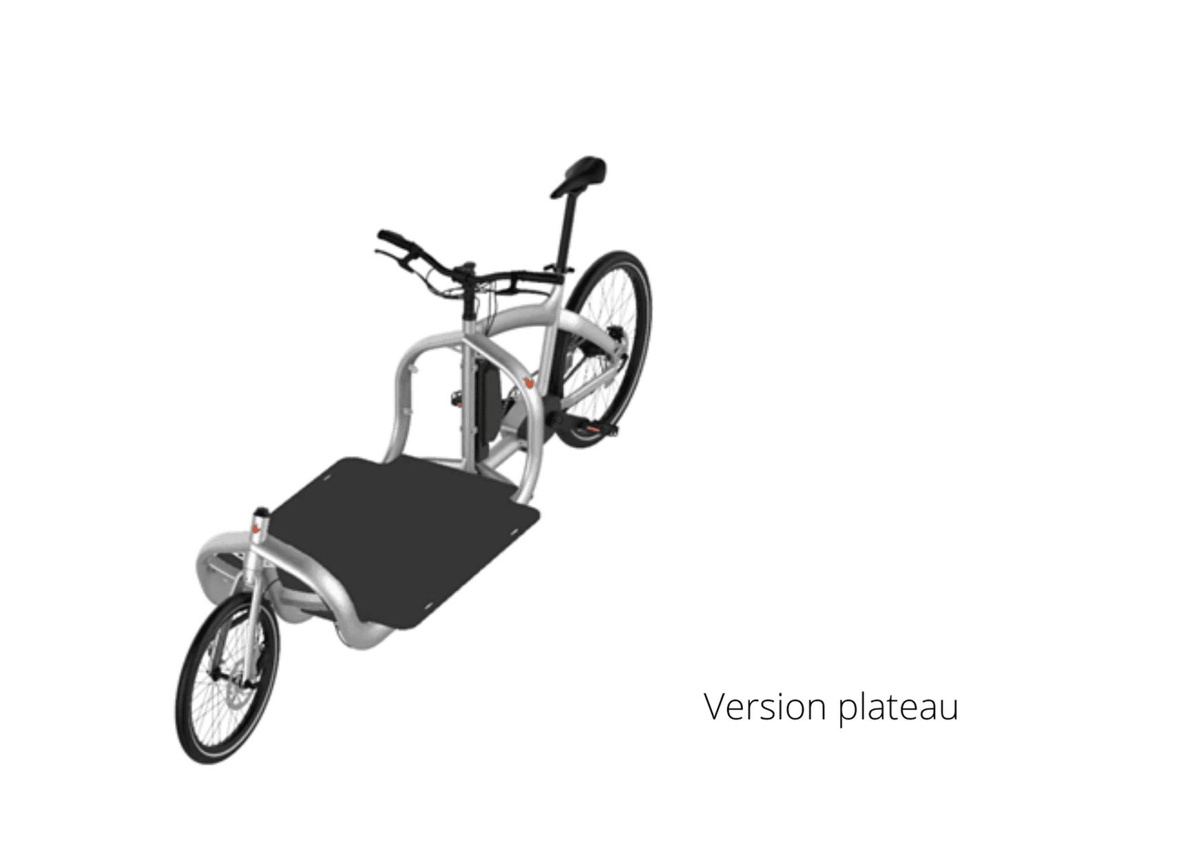 Version cargo électrique Triobike plateau
