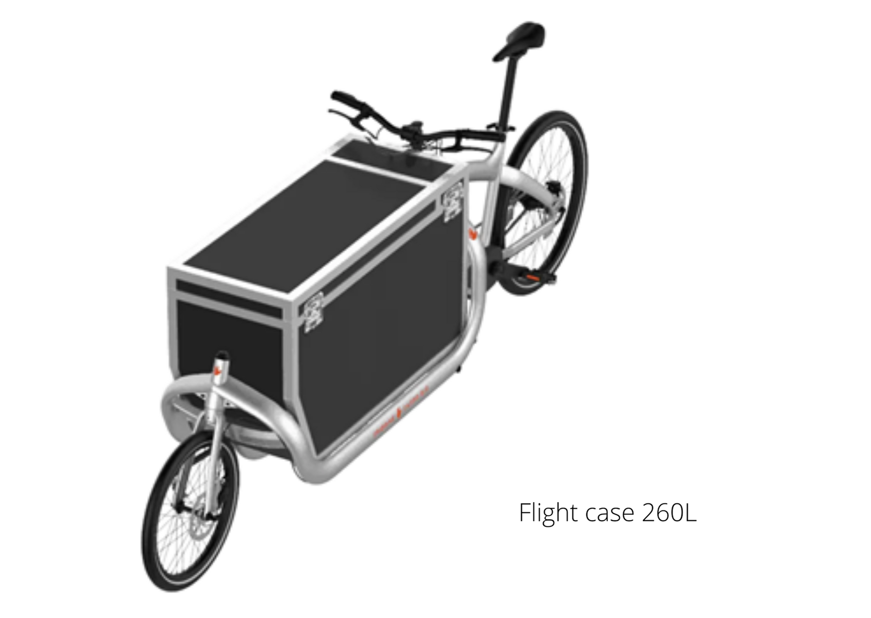 vélo cargo Triobike avec Flight case 465L