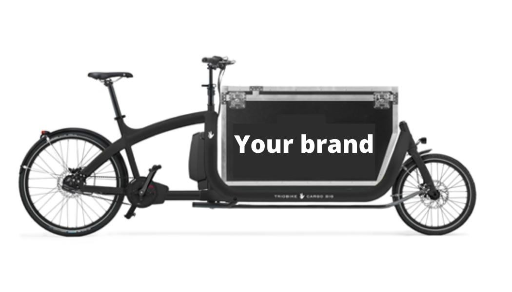 vélo cargo Triobike avec caisse à votre effigie