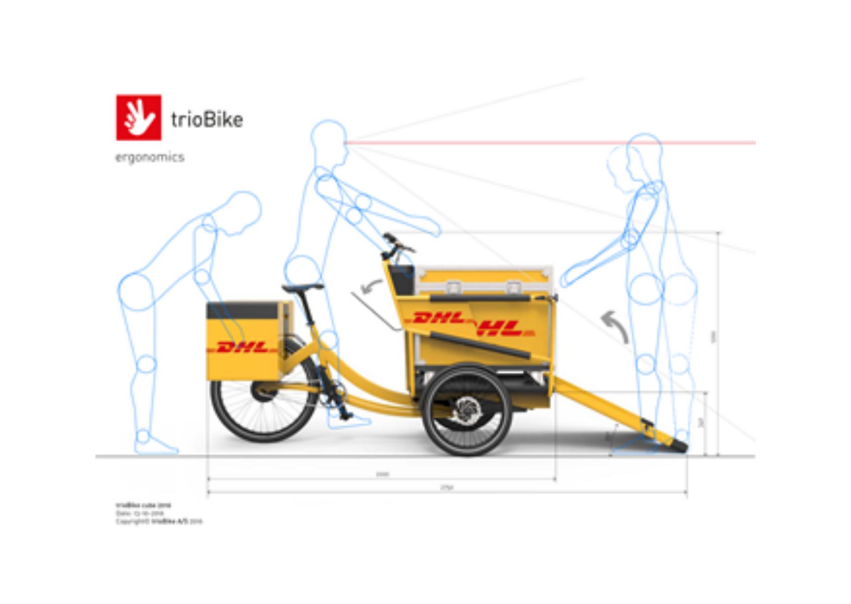 vélo logistique logoté DHL